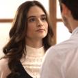 """Em """"O Tempo Não Para"""": Marocas (Juliana Paiva) e Samuca (Nicolas Prattes) terminam o noivado. Qual será o futuro do casal?"""