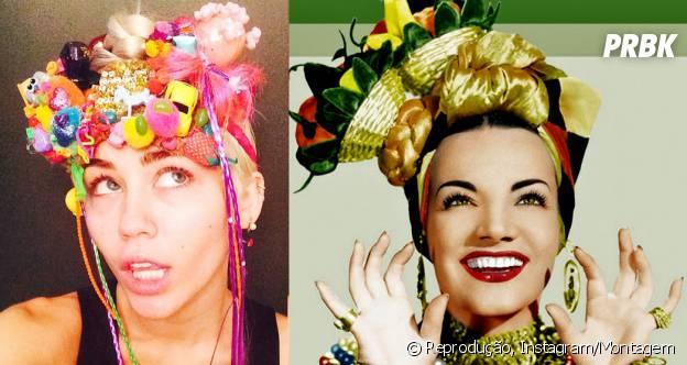 Miley Cyrus e Carmem Miranda: Algo em comum?