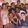 """Jeniffer Nascimento e o elenco de """"Malhação Sonhos"""" ainda se encontram de vez em quando. Muito fofo, né?"""