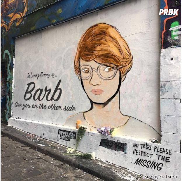 Shannon Purser teve rosto pintado em muro