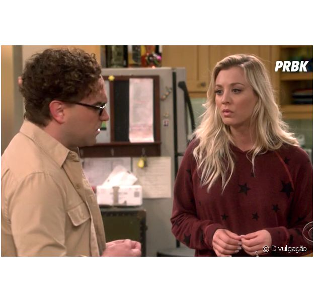 "Em ""The Big Bang Theory"", Penny (Kaley Cuoco) e Leonard (Johnny Galecki) enfrentam problemas no casamento"