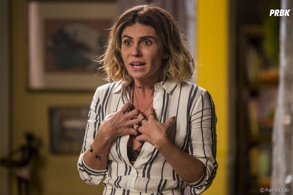 """Final """"Segundo Sol"""": Luzia (Giovanna Antonelli) convida Karola (Deborah Secco) para o seu casamento com Beto Falcão (Emílio Dantas)"""