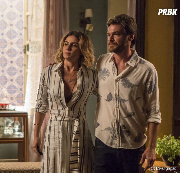 """Final """"Segundo Sol"""": Valentim (Danilo Mesquita) e Beto (Emílio Dantas) pedem que Karola vá conversar com Luzia (Giovanna Antonelli)"""