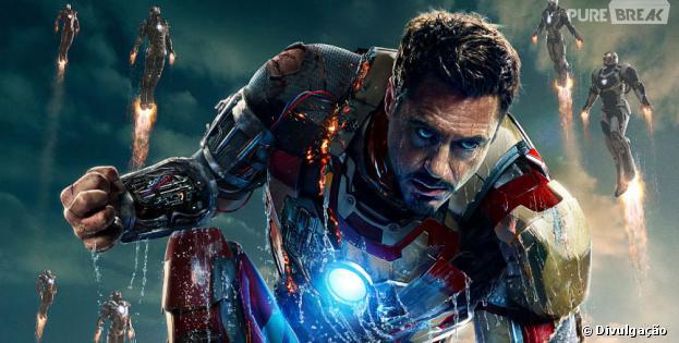 """Robert Downey Jr. interpreta o herói de metal na franquia solo do personagem e na série """"Os Vingadores"""""""