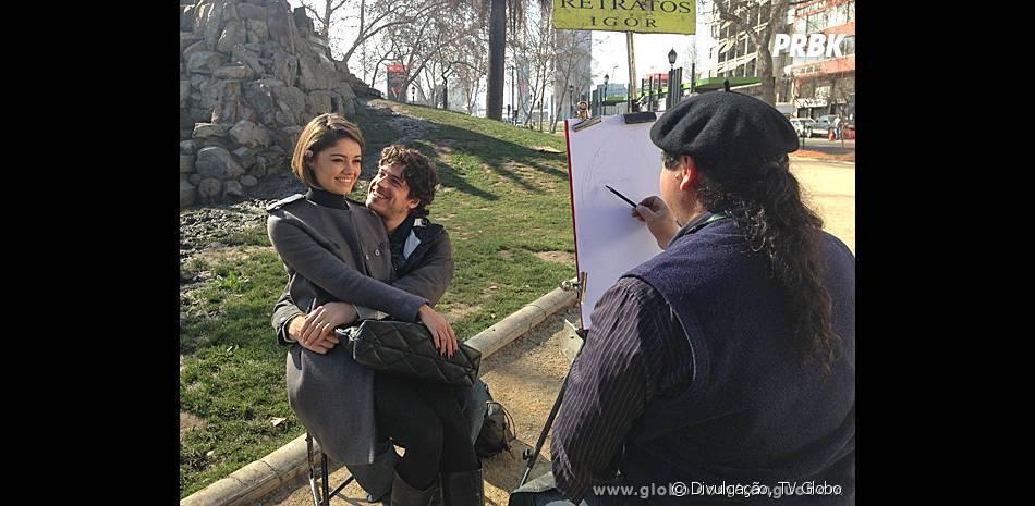 """Sobra a parceria com o ator Marco Pigossi em """"Sangue Bom"""", Sophie Charlotte foi só elogios: """"Confio muito nele"""""""