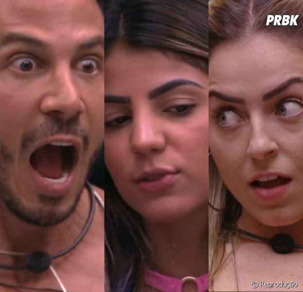 """Do """"BBB19"""": no paredão entre Gustavo, Paula e Hariany, está difícil escolher apenas um para eliminar"""