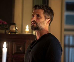 """Em """"O Sétimo Guardião"""": Gabriel (Bruno Gagliasso) fica chocado com segredo revelado por Murilo (Eduardo Moscovis)"""