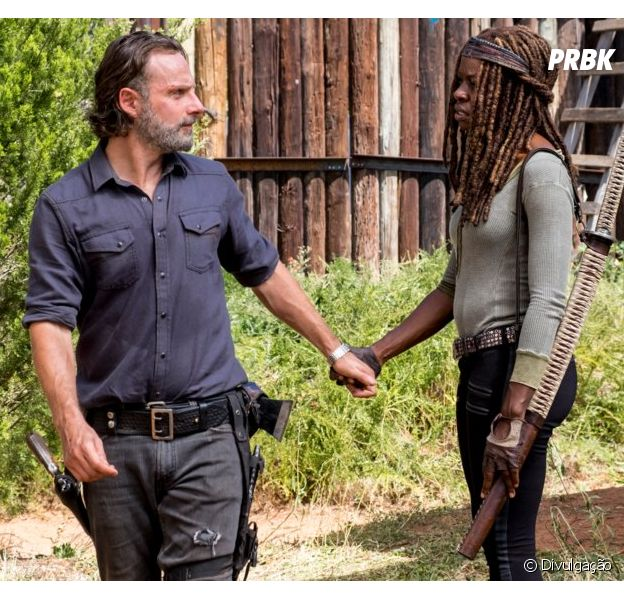 "Em ""The Walking Dead"", Michonne (Danai Gurira) pode sair para procurar Rick (Andrew Lincoln)"