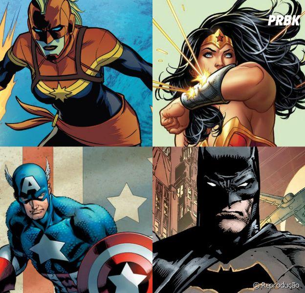 Escolha 5 super-heróis, da DC ou da Marvel, e te diremos para qual lugar você deveria viajar
