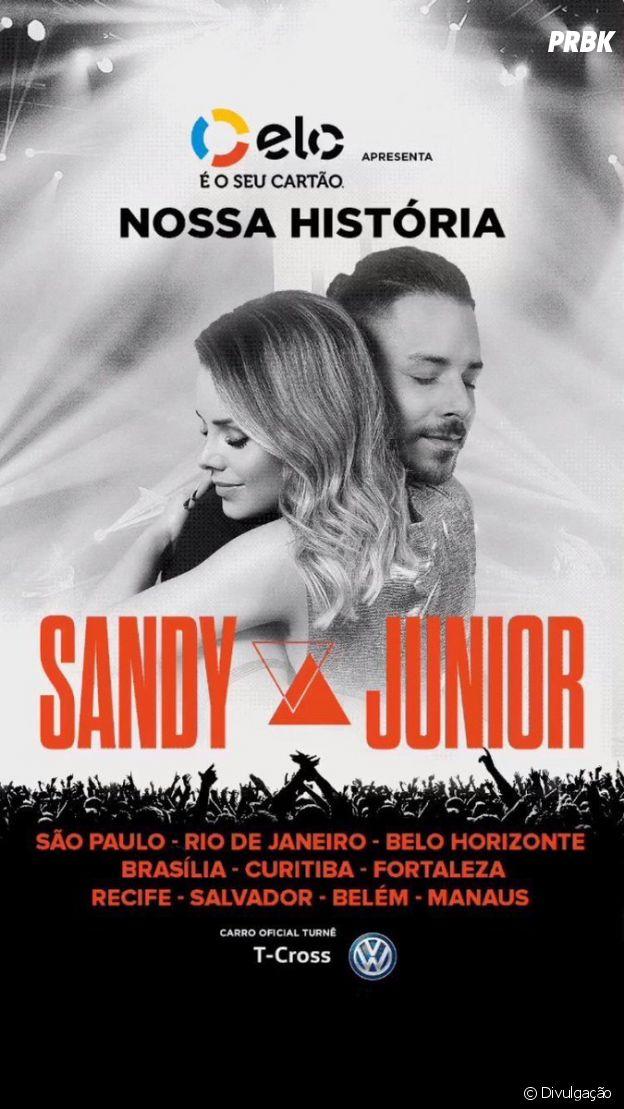"""Divulgado o cartaz da turnê """"Nossa História"""", de Sandy e Junior"""