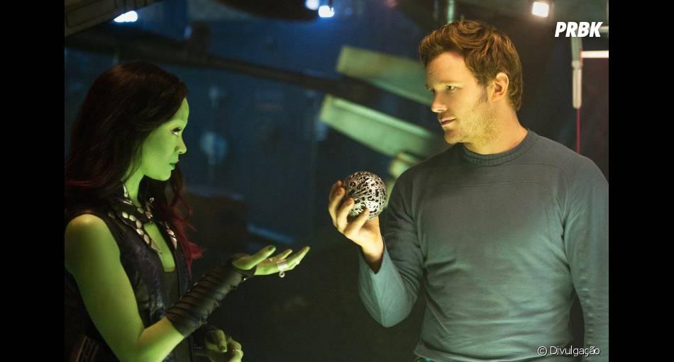 """Zoë Saldana e Chris Pratt brilham e mostram química, no filme """"Guardiões da Galáxia"""""""