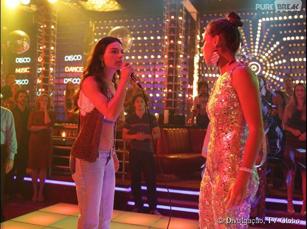 "Em ""Boogie Oogie"", Sandra (Isis Valverde) vai desmascarar Jussara (Thati Lopes)"
