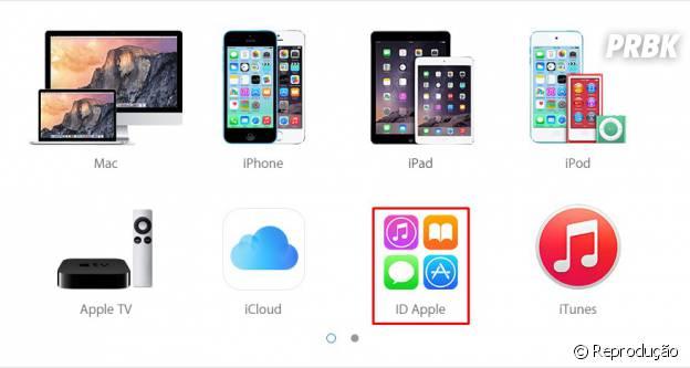 "Na nova página acesse o ícone ""ID Apple"
