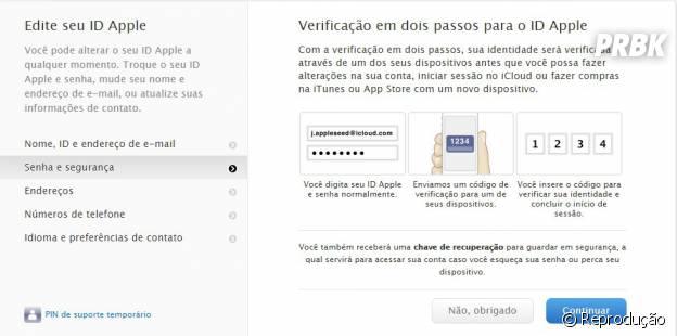 """A página seguinte dá detalhes sobre a habilitação da ferramente, clique em """"Continuar"""""""