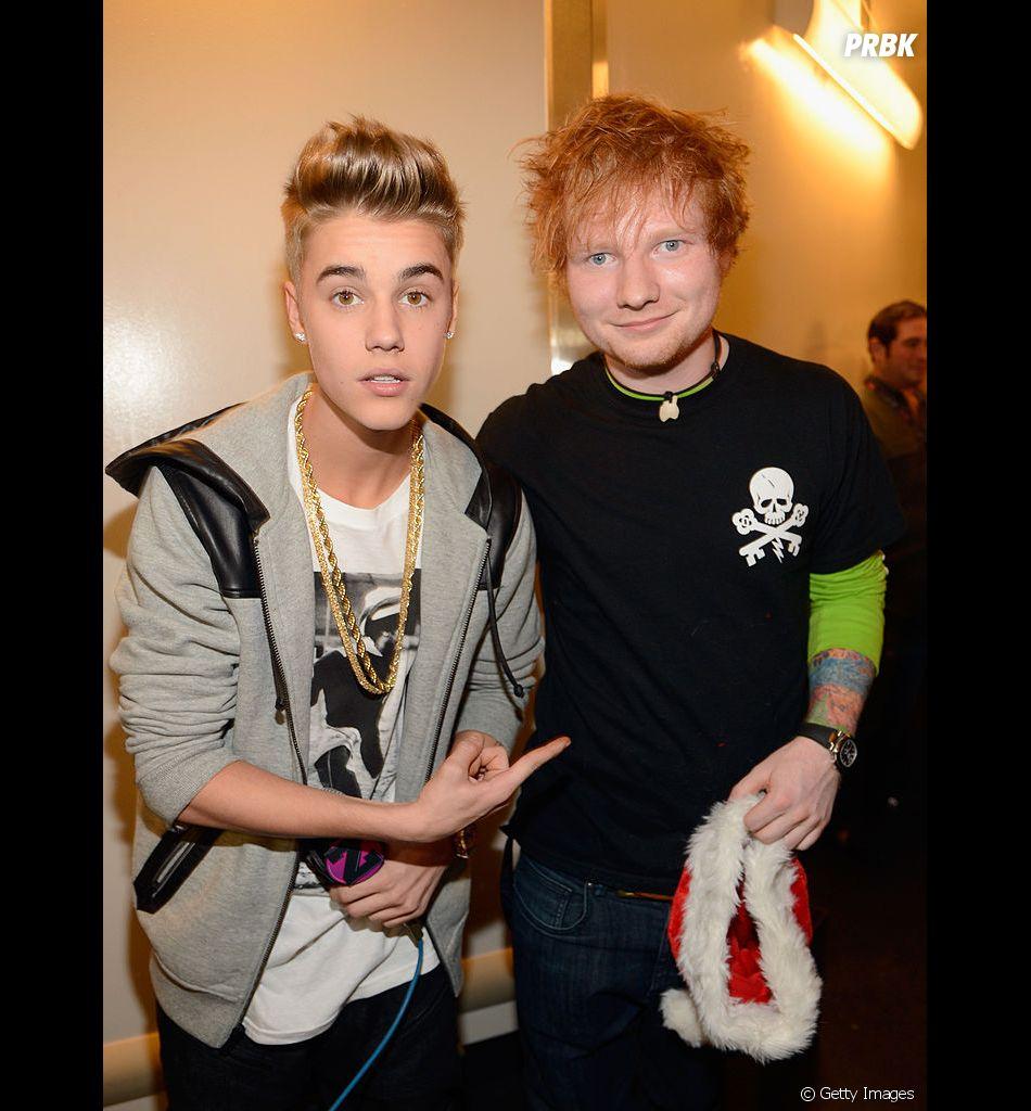 Justin Bieber e Ed Sheeran são amigos há muitos anos