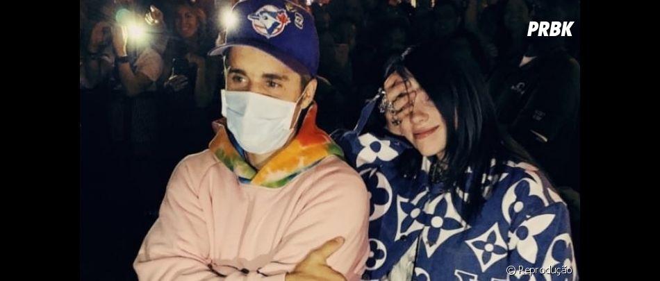 Billie Eilish é gente como a gente e super fã de Justin Bieber, com quem se encontrou pela primeira vez este ano no Coachella 2019