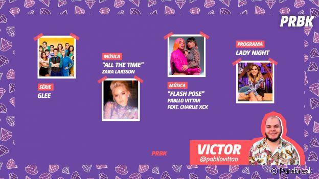 """Viciei do Purebreak: Victor indicou """"Glee"""", """"Lady Night"""" e muito mais no mês de julho"""