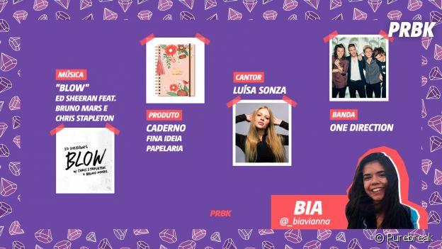 Viciei do Purebreak: Bia indicou Fina Ideia Papelaria, Luísa Sonza e muito mais no mês de julho