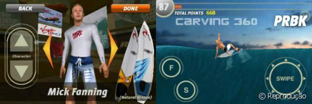 """""""Rip Curl Surf Game"""" é um excelente simulador"""