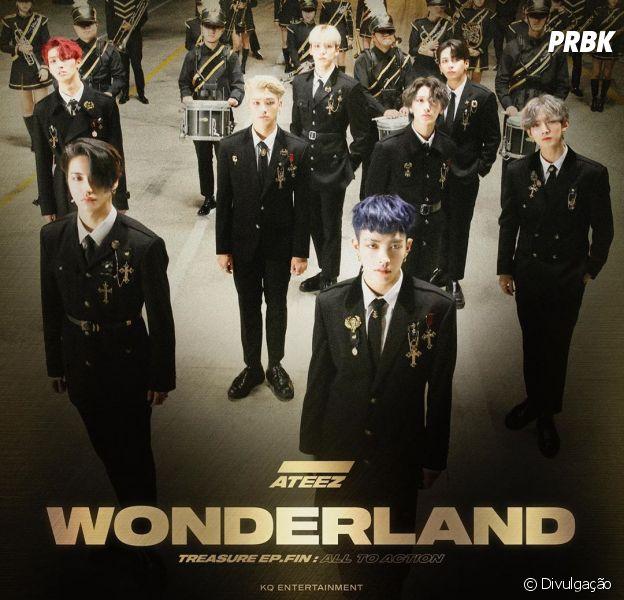 """ATEEZ faz seu comeback e leva os fãs para o país das maravilhas no MV de """"WONDERLAND"""""""