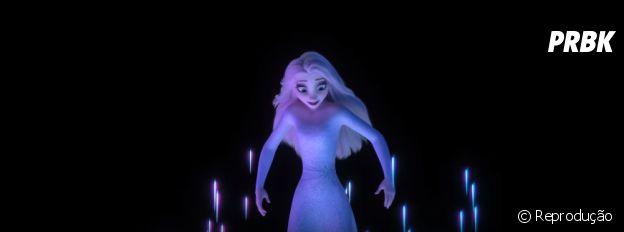 """""""Frozen 2"""": Elsa aparece de cabelo solto em novo trailer"""