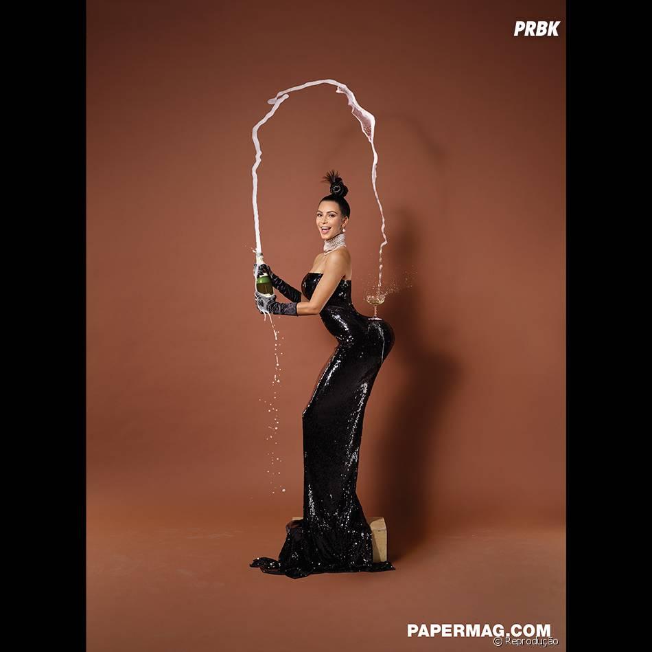 Para os mais conservadores, a revista Paper também mostra Kim Kardashian mais comportadinha