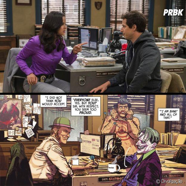 """""""Brooklyn Nine-Nine"""" recebeu homenagem em um dos quadrinhos do Batman"""