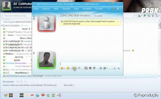 MSN (Windows Live Messenger) e mais sites que eram sucesso na internet e todo mundo usava