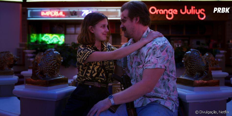 """""""Stranger Things"""": como será que Eleven (Millie Bobby Brown) vai reagir à notícia de queHopper (David Harbour) está vivo?"""