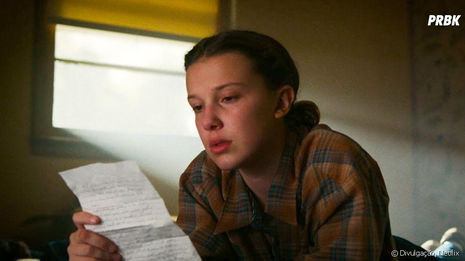 """""""Stranger Things"""": carta emocionante deHopper (David Harbour) paraEleven (Millie Bobby Brown) no final da 3ª temporada foi um dos assuntos mais comentados"""