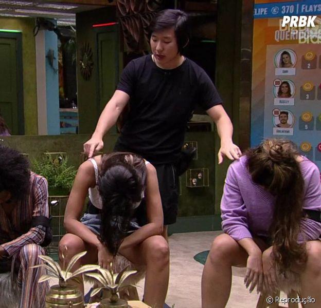 """""""BBB20"""": Pyong hipnotizou Felipe Prior, Thelma, Ivy e Rafa Kalimann na madrugada desta terça (3)"""