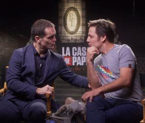 """Beijo de Berlim e Palermo em """"La Casa de Papel"""" é pauta na entrevista do Purebreak com Pedro Alonso e Rodrigo de la Serna"""
