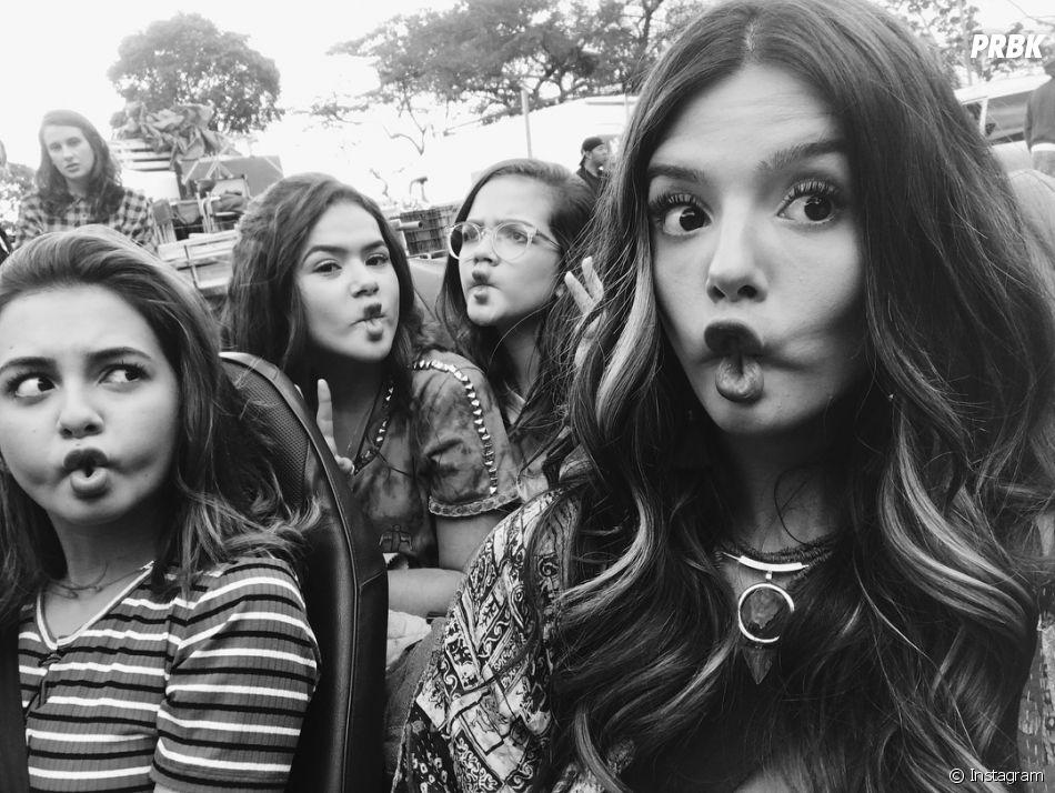 """""""Tudo Por Um Pop Star"""": Maisa Silva, Mel Maia, Klara Castanho e Giovanna Lancellotti ficaram bem próximas nos basitidores do filme"""