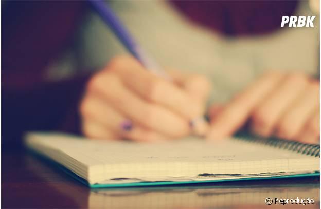 Escreva suas ideias durante o seu tempo livre