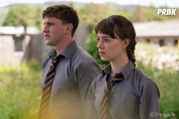 """""""Normal People"""" conta a história de amor cheia de idas e vindas deMarianne (Daisy Edgar-Jones) e Connell (Paul Mescal)"""
