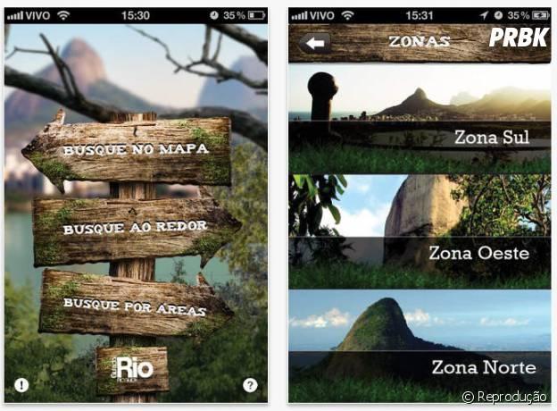 """Aplicativo """"e-Trilhas"""" com vários percursos cariocas"""