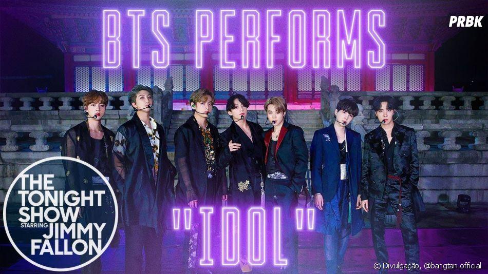 "BTS faz performance de ""IDOL"" no ""The Tonight Show with Jimmy Fallon"""