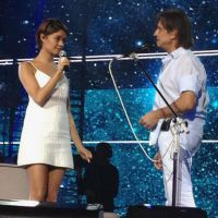 Sophie Charlotte e Luan Santana fazem último ensaio com Roberto Carlos