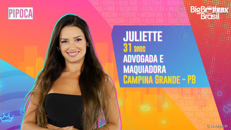"""""""BBB21"""": Juliette é advogada e maquiadora e é da Paraíba"""