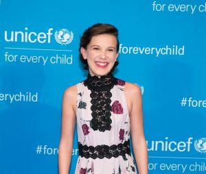 Millie Bobby Brown no 70º aniversário da UNICEF na Sede das Nações Unidas