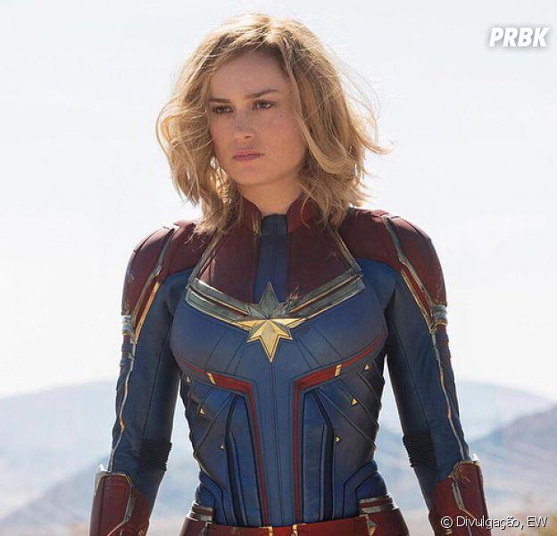 Brie Larson interpreta a heroína 'Capitã Marvel'