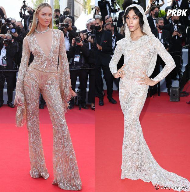 Candice Swanepoel e MJ Rodriguez no Festival de Cannes 2021