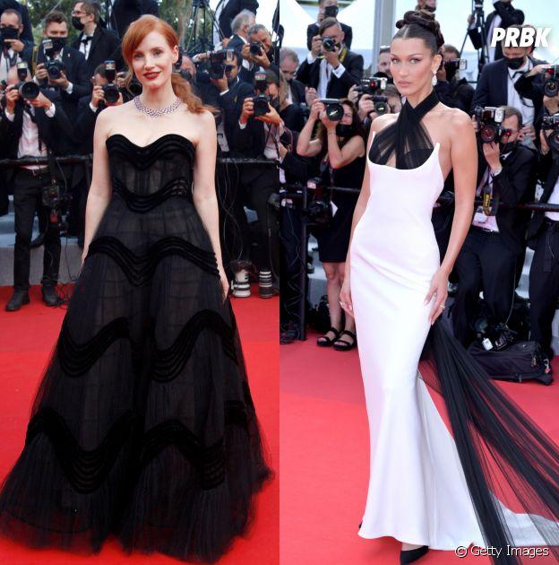 Jessica Chastain e Bella Hadid no Festival de Cannes 2021