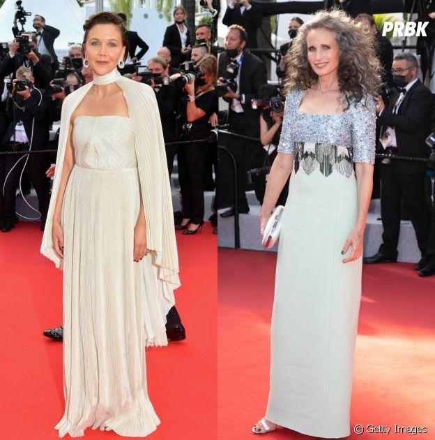 Andie MacDowell e Maggie Gyllenhaal no Festival de Cannes 2021