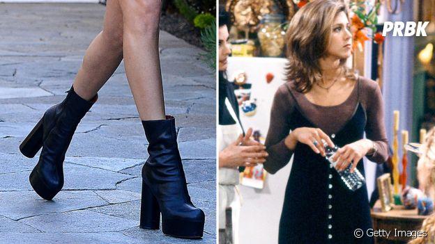 Botas de plataforma e vestidos com segunda pele - uma típica combinação dos anos 90