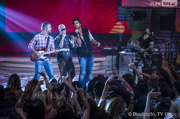 """Bruno, da Banda Malta canta ao lado de Victor e Léo no """"Sai do Chão"""""""