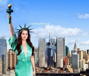 Lana Del Rey ou Estátua da Liberdade? Vestido da cantora no Globo de Ouro 2015 provoca risadas na rede