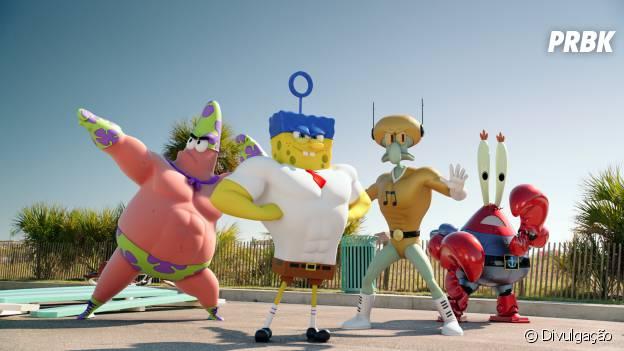 """""""Esponja: Um Herói Fora D'Água"""" é uma das animações para se ver no cinema durante as férias."""
