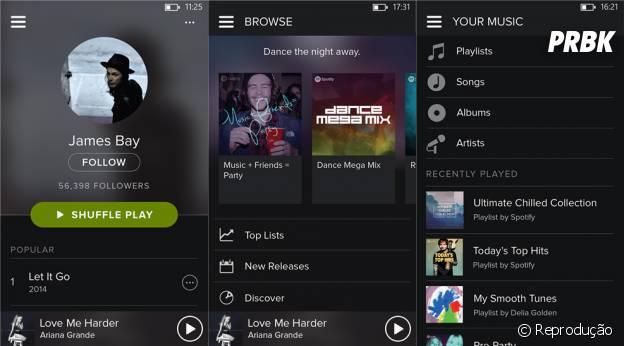 Versão 5.0.0.0 do Spotify foi publicada nesta segunda-feira (19)