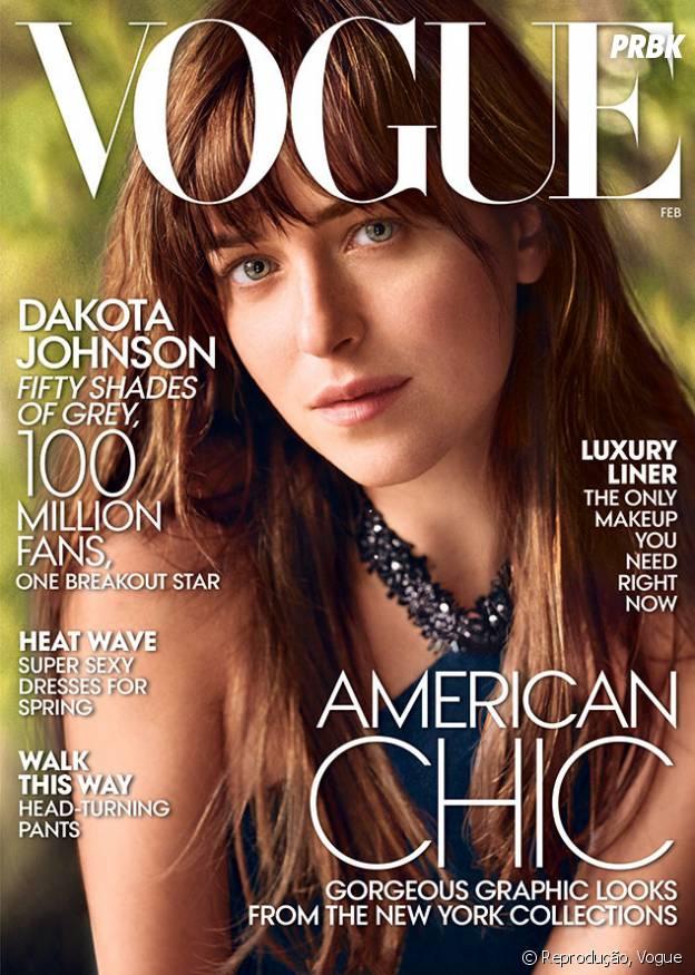 """Dakota Johnson fala sobre """"Cinquenta Tons de Cinza"""" à Vogue"""